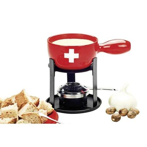 nouvel k sefondue set mini swiss fondue set 6 tlg ch kreuz design. Black Bedroom Furniture Sets. Home Design Ideas