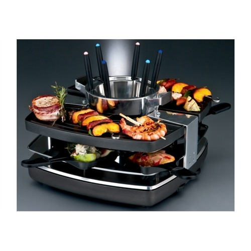 gastroback gas 42559 raclette grill fondue set f r 6 personen ideal silvester ebay. Black Bedroom Furniture Sets. Home Design Ideas