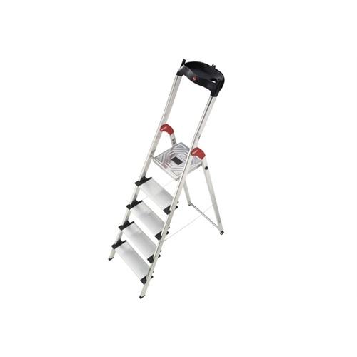hailo haushaltsleiter profistep xxl 5 stufen alu leiter mit schale stehleiter ebay. Black Bedroom Furniture Sets. Home Design Ideas