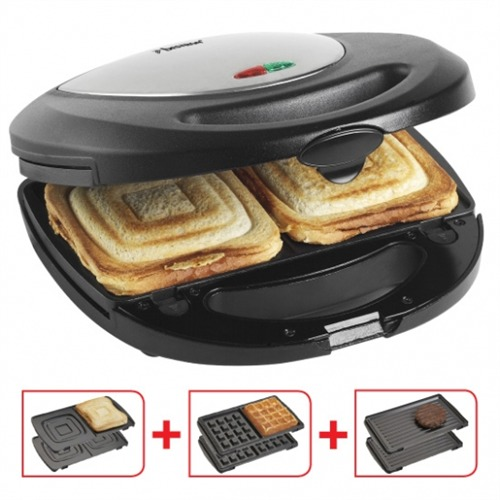 bestron asm8010 3 in 1 waffle maker sandwichmaker grill contact grill all in one ebay. Black Bedroom Furniture Sets. Home Design Ideas