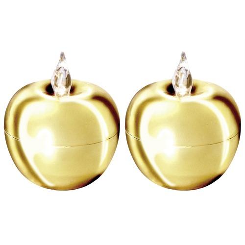 2 led tischdeko apfel gold 5x4 dekoration weihnachten ebay for Apfel dekoration