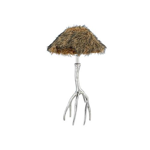 alulampe tischlampe geweih mit schirm 33x63 cm ebay. Black Bedroom Furniture Sets. Home Design Ideas